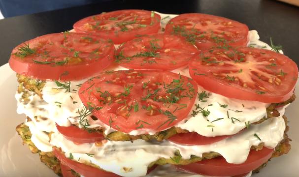 Кабачковый торт — Как готовится торт кабачковый с помидорами