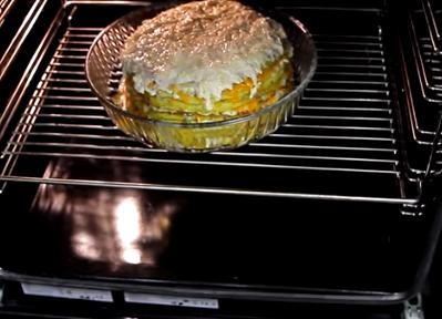 Кабачковый торт — Кабачковый торт с фаршем