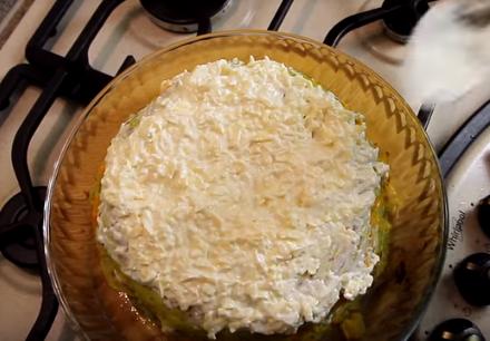 Кабачковый торт — Кабачковый торт с курицей