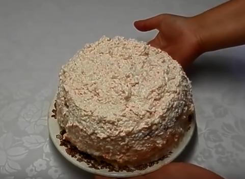Кабачковый торт — Кабачковый торт с крабовыми палочками недолго готовить