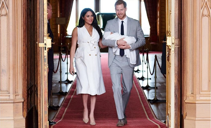 Принц Гарри и Меган Маркл показали сына