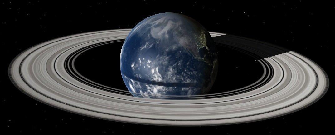 У Земли образуются кольца