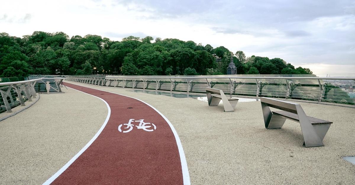 Мост Кличко, велодорожка