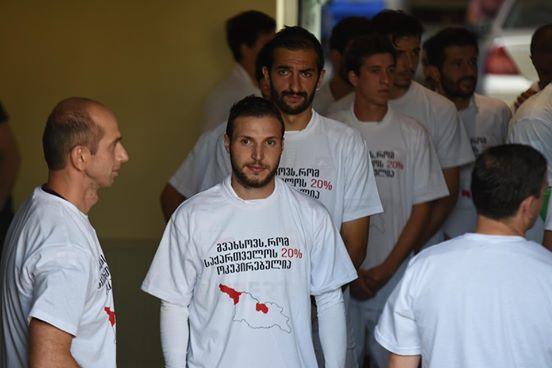 Грузинские футболисты устроили антироссийский демарш