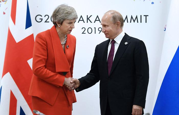 Тереза Мэй, Владимир Путин
