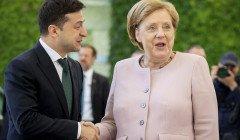 Зеленский и Меркель обговорили ситуацию на Донбассе, освобождение заложников и транзит газа