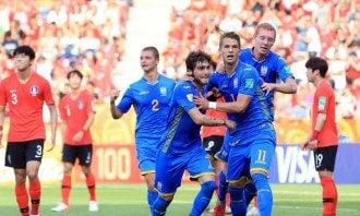 Украина стала золотой
