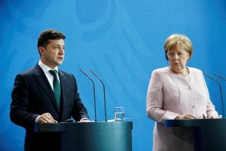 Встреча Меркеля и Зеленского