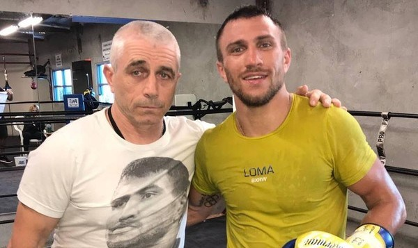 Василий Ломаченко с отцом-тренером