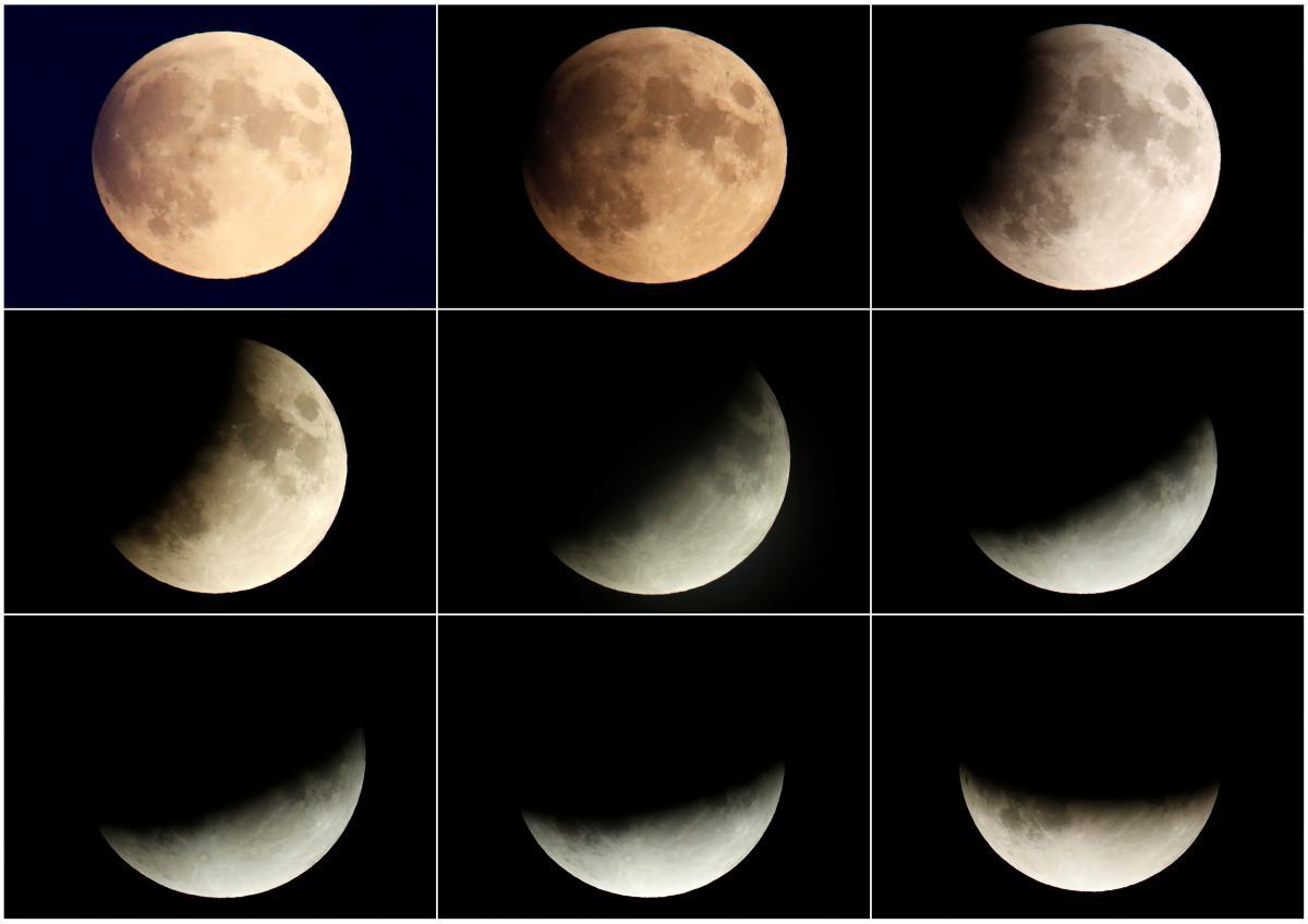 Частичное лунное затмение в столице Германии Берлине