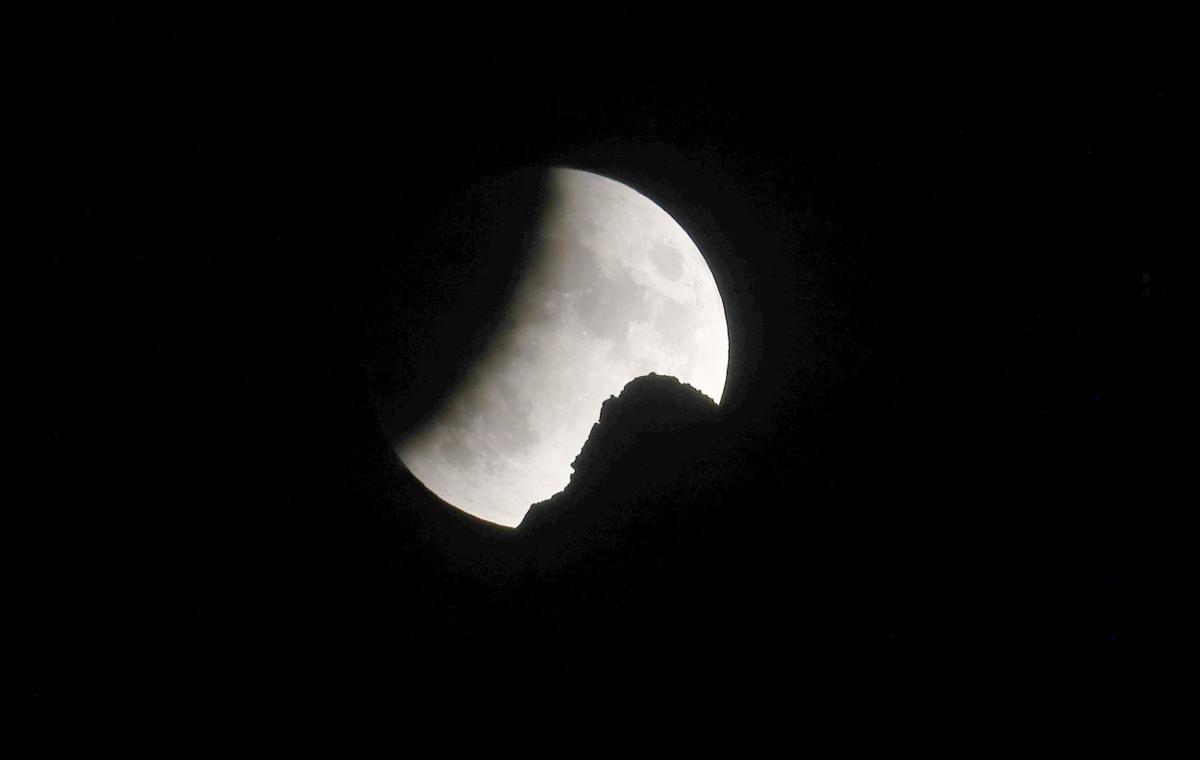 Частичное лунное затмение в Швейцарии