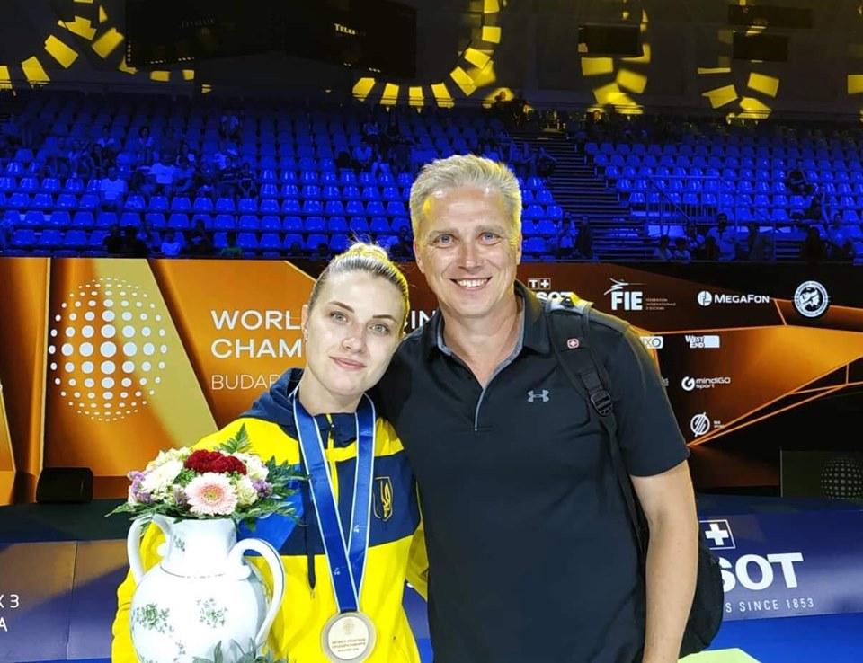 Ольга Харлан со своим менеджером Юрием Шаповаловым