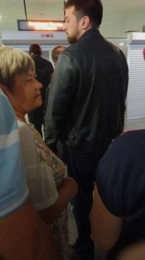 Сын Луценко в аэропорту