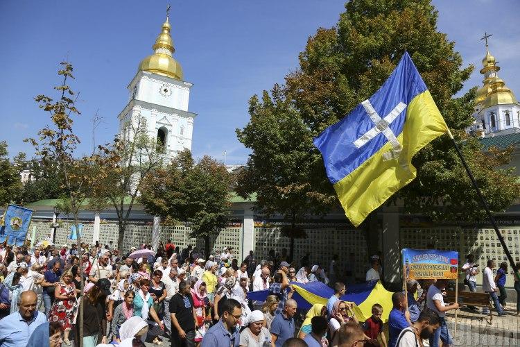 По случаю 1031-летия крещения Руси в Киеве прошел крестный ход ПЦУ