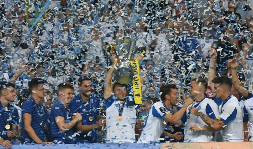 Киевское Динамо празднует победу в Суперкубке Украины-2019