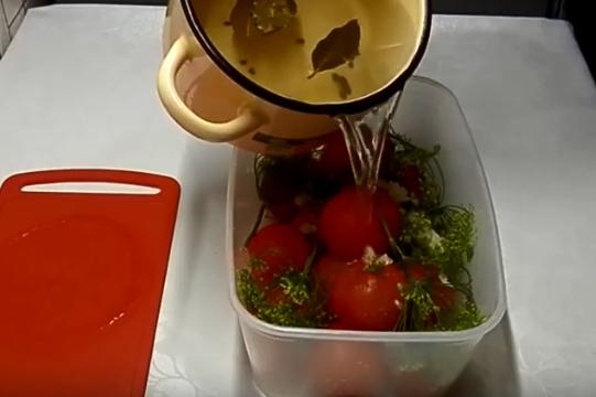 Маринованные помидоры быстрые можно есть через сутки после приготовления