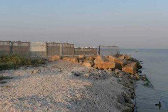 Огороженный пляж в Бердянске / Facebook Ярославы Гармаш