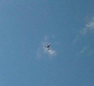 Перед политическим концертом дрон скинул с неба резиновый фаллос