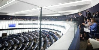Петр Порошенко в Европарламенте