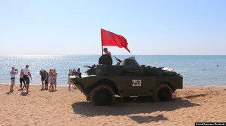 БТР тянули к берегу на буксире / Фото: Facebook/Сергей Бороздин