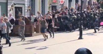 Силовики жестко разгоняют митинг в Москве / скриншот