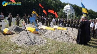 Перезахоронили 29 бойцов дивизии СС / Фото: скриншот из видео