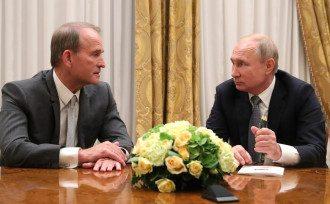 Виктор Медведчук и Владимир Путин