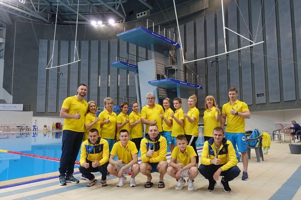 Тамара Токмачева со сборной Украины