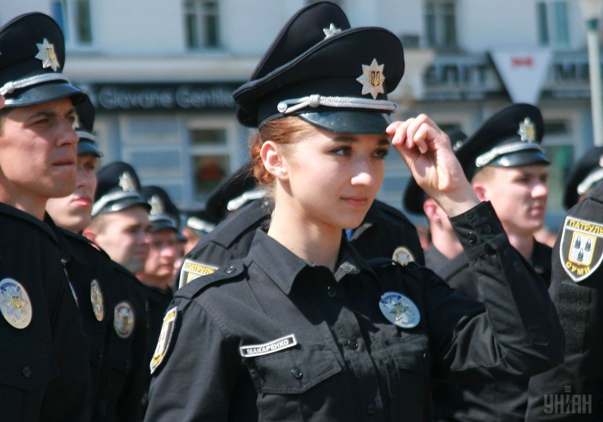 Полиция, девушка, коп