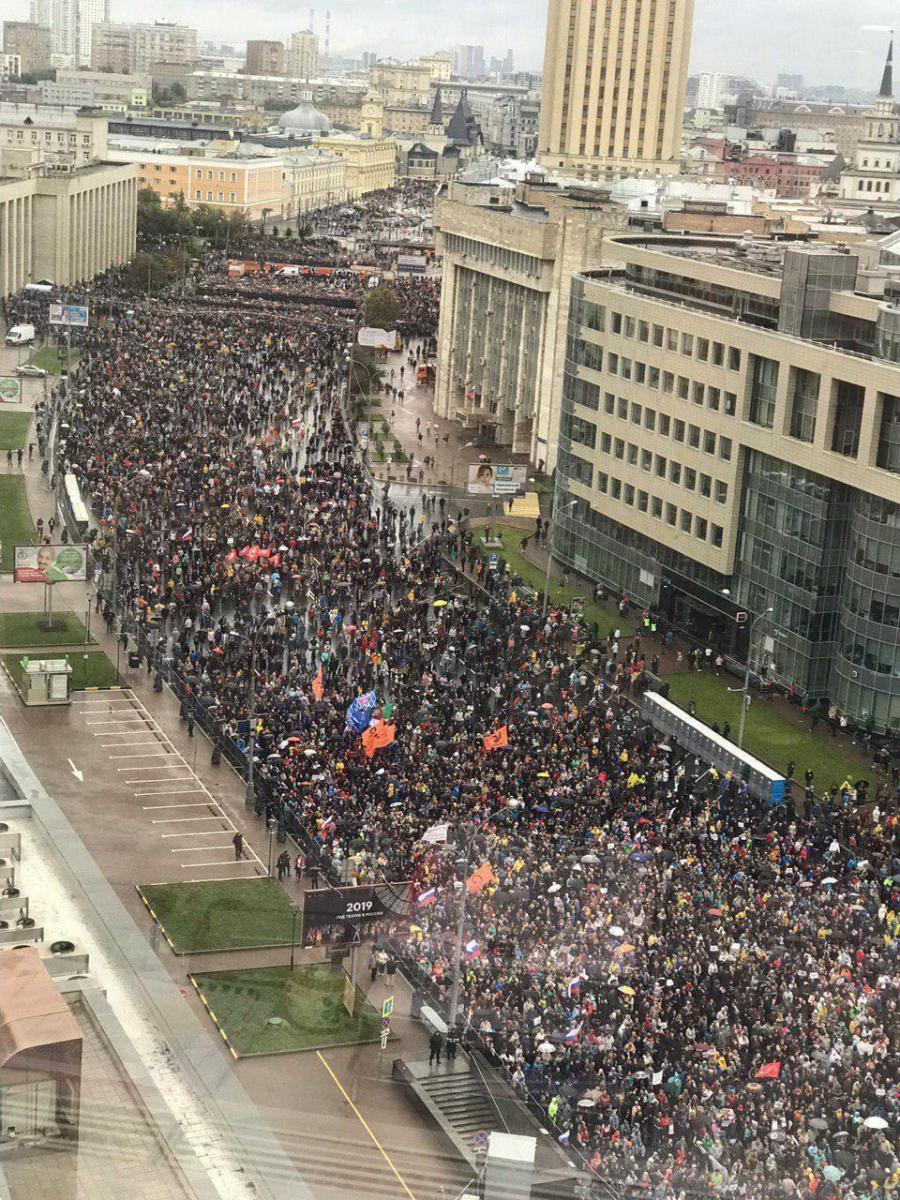 Митинг в Москве 10 августа