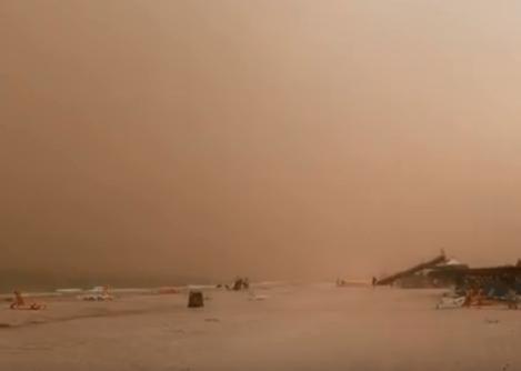 Новости Запорожья - Часть Запорожской области накрыла песчаная буря