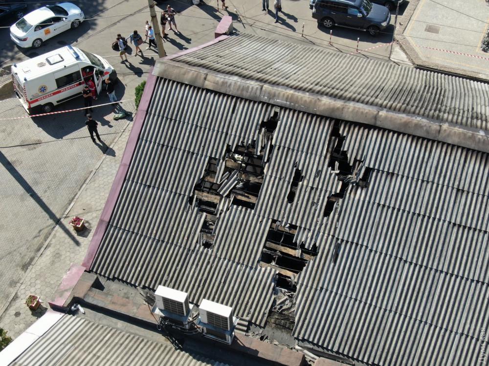 Последствия пожара в отеле Токио Стар в Одессе