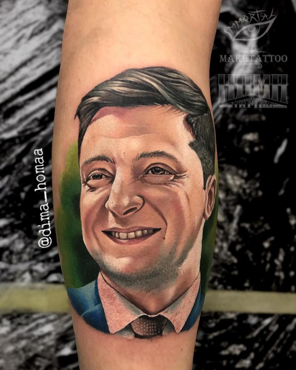 Владимир Зеленский, татуировка