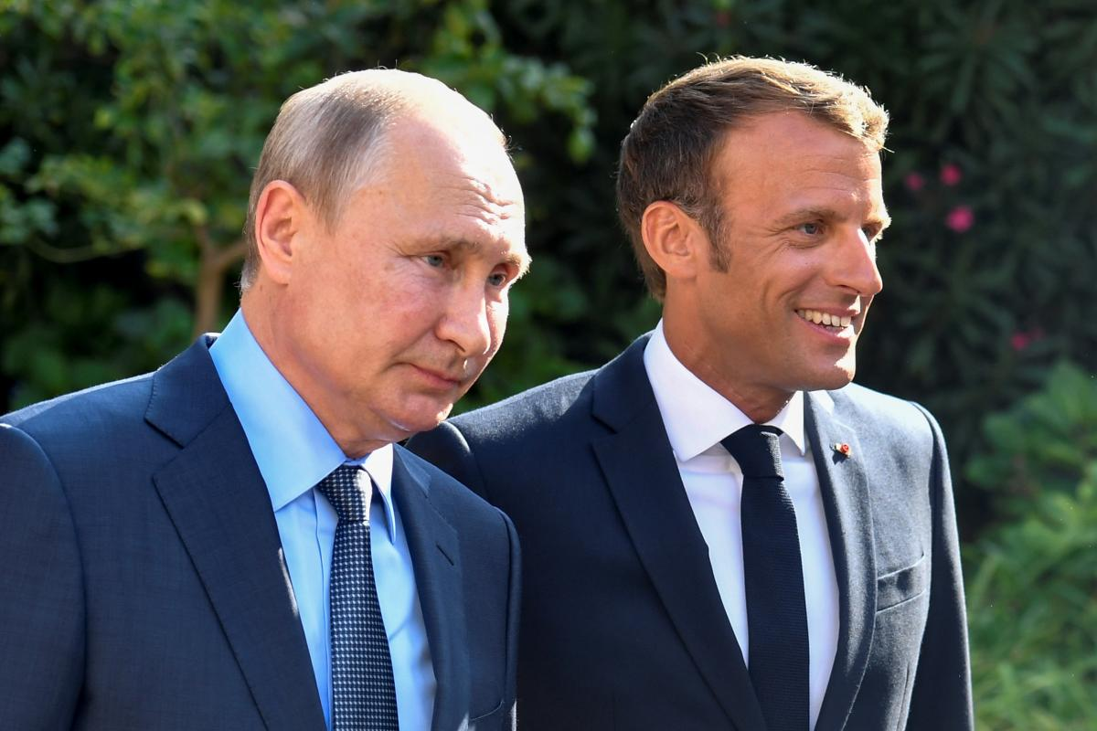 Эммануэль Макрон, Владимир Путин