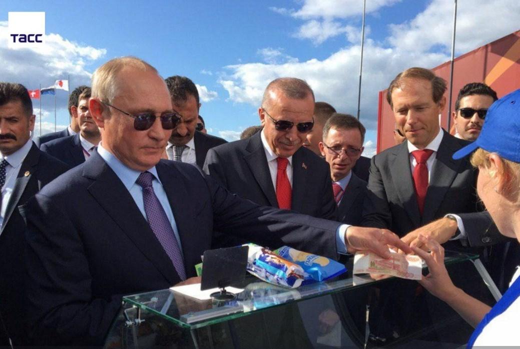 Путин угостил мороженым не только Эрдогана