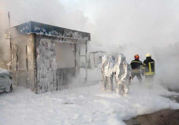Новости Киева - Под Киевом горела АЗС, есть пострадавший