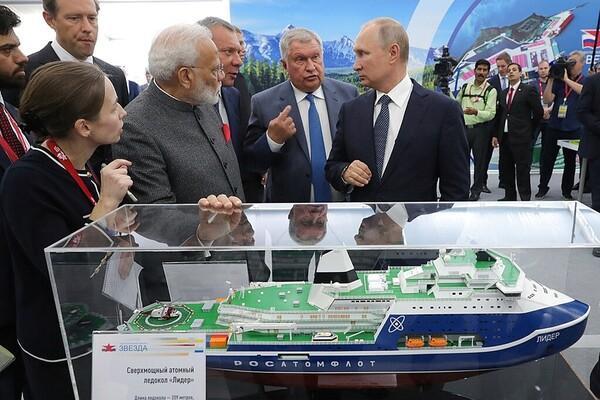 Путин, Моди