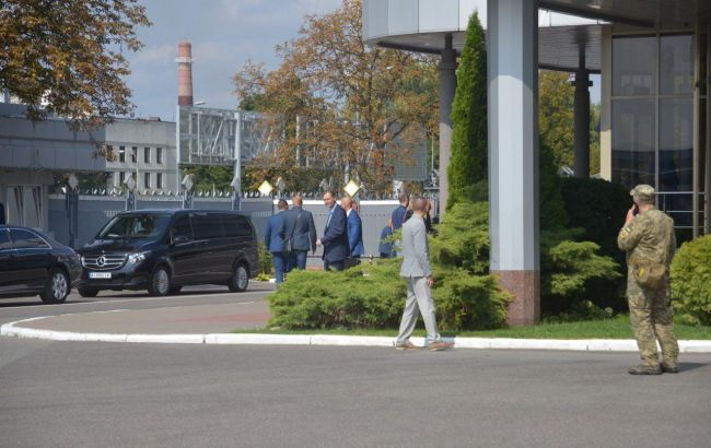 Кортеж Зеленского в Борисполе