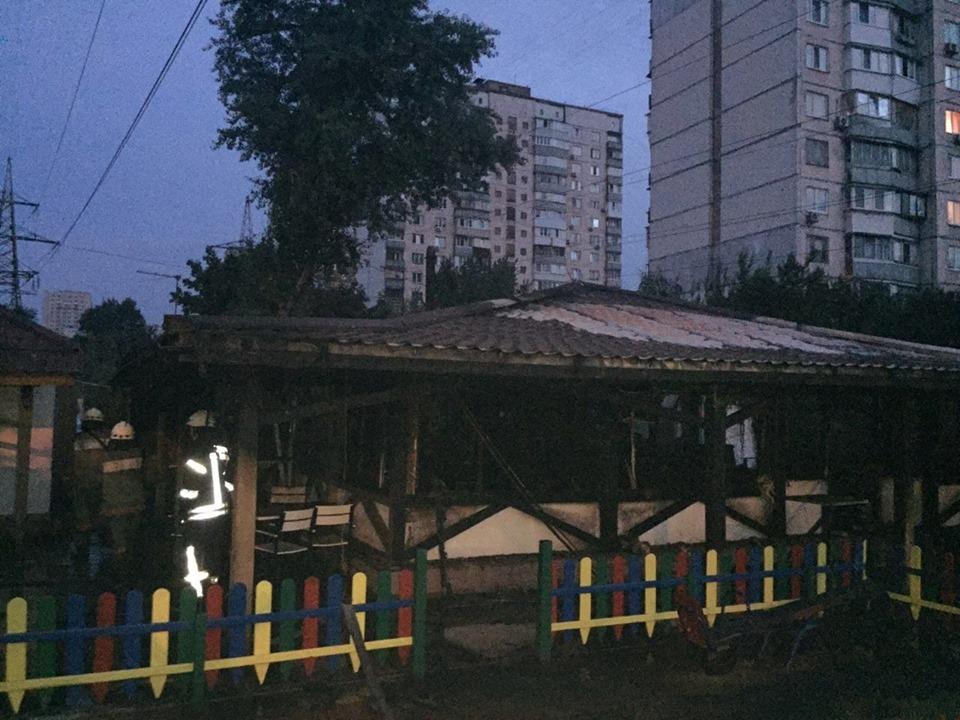 В Киеве на Подоле произошел пожар в заведении общественного питания - Киев пожар