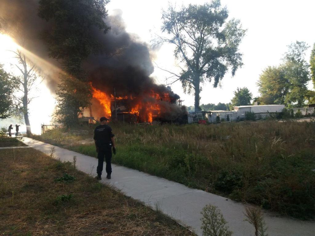 В Киеве сгорел клуб