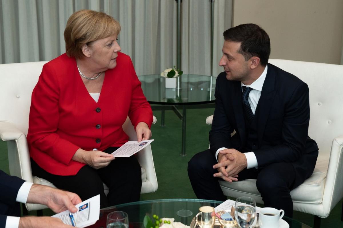Зеленський, Меркель