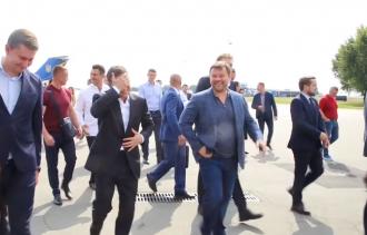 Владимир Зеленский и Андрей Богдан / скриншот