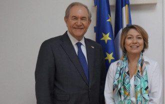 Джеймс Гилмор и Кристина Фаже (osce.usmission.gov)