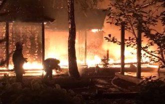 Пожар в доме Валерии Гонтаревой