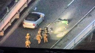 Террорист сам сдался силовикам / скриншот