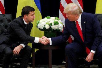 На встрече с Владимиром Зеленским Дональд Трамп признал РФ стороной конфликта на Донбассе, полагает эксперт - Зеленский - Трамп встреча