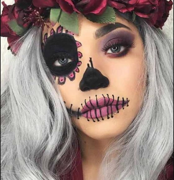 мейкап на хэллоуин