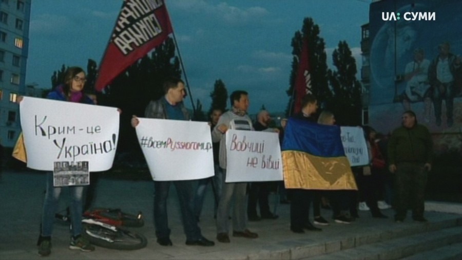 Протест на концерте Винника
