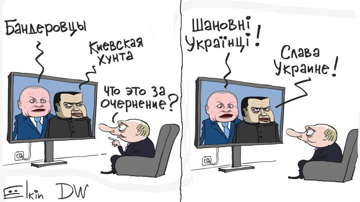 Карикатура Сергея Елкина / Немецкая волна