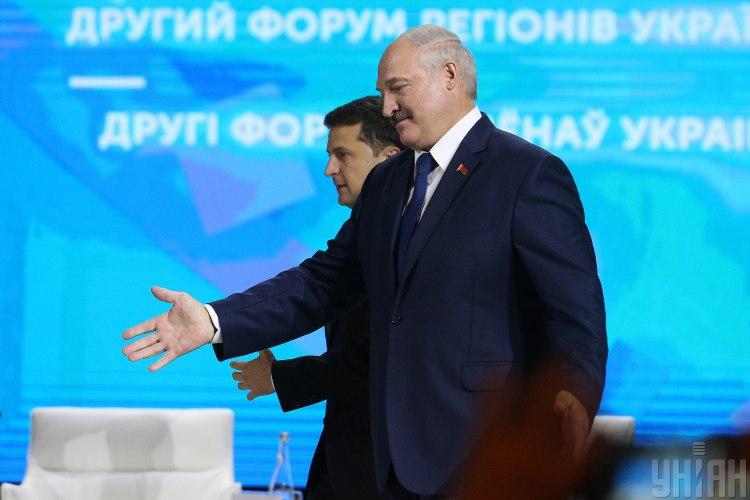 Владимир Зеленский и Александр Лукашенко в Житомире